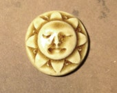 Sunshine Face Ceramic Cabochon Stone in Peachy Tan