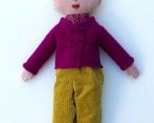 Girl doll wool blond