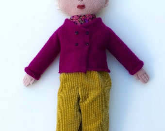 Girl doll wool blond
