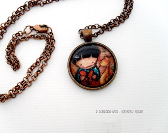 Cat Art Print Necklace
