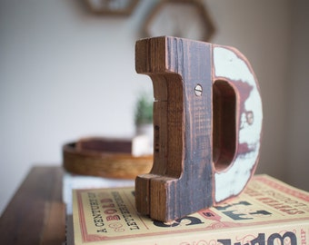 "Wooden Letter ""D""   Wood Type"