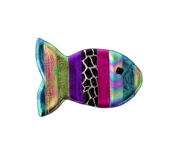 Gay rainbow fish magnet