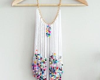 Festival Jewelry, Beaded Braided Necklace, Statement Necklace, Jewelry, art jewelry, art of Jewelry, wall art, deco jewelry, art deco,