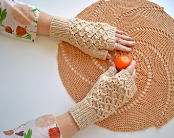 Con Brio Fingerless Mitts Knitting Pattern PDF