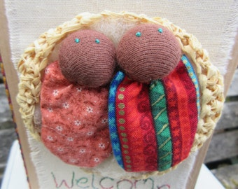Welcome Twins Card with Lovealittle Mini Dolls