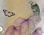 Owl Art Print , Owl Painting, Owl Fine Art, Owl Mixed Media, Nature Fine Art Print, Nature Painting, 11x14 Print, Fine Art, Home Decor