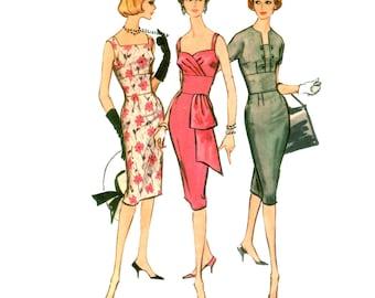60s Wiggle Dress Pattern vintage 34-26-36 Midriff Band Dress pattern Cocktail Dress pattern Bust 34 Sheath Dress mccalls 5026
