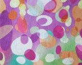 "Printed Felt Rectangle: Multi-Color Ovals (9""x12"")"