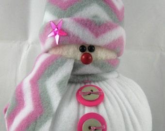 Stuffed Snowman, Christmas Decoration, Snowman Decoration, Snowman Ornament, Christmas Ornament, Fleece Snowman