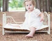 Pink and ivory baby dress custom blessing,baptim,christening,portrait,flower girl  3m,6m,9m,12m,18m Vintage Rose