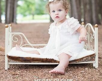 White baby girl dress blessing christening baptism by