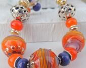 Pure Joy Handmade Lampwork Bead Bracelet