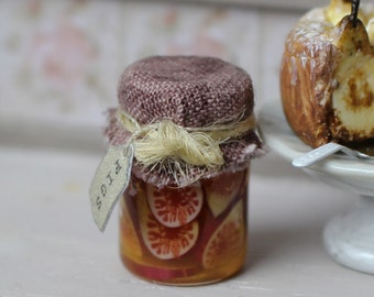 Dolls House Miniature Figs in Jar 1:12 scale