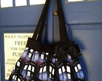 Dr. Who Purse,  Dr. Who Diaper Bag, Tardis Handbag, Tardis Bag, Dr. Who Tote