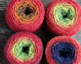 Pure wool knitting yarn - 4 x 46 g