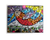 Fly Me Away From Here. (Original Handmade Mixed Media Mosaic by Shawn DuBois)