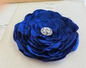 Royal Blue Silk Flower Headpiece.Royal Blue Flower Brooch.Pin.Royal Blue Hair Clip.Royal Blue Hair Accessory.Royal Blue Flower Hair Piece