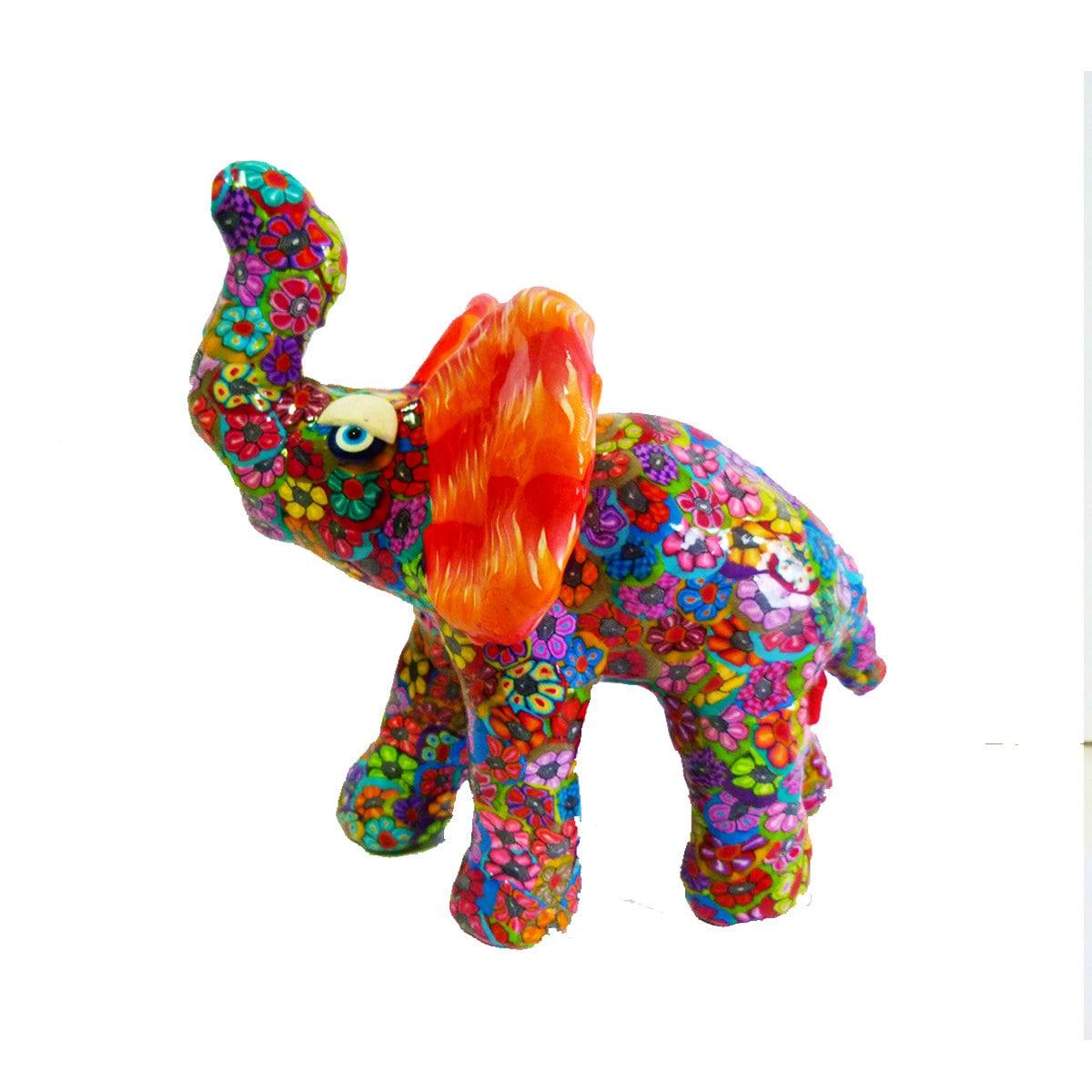 Elephant Decor Elephant Sculptureelephant Art Red By Mirakris