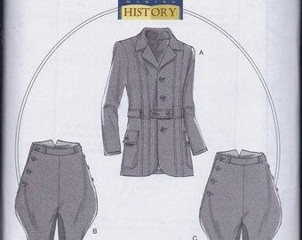 Butterick 6340 Men's Edwardian Sportsman's Suit Riding Pants Breeches Jodphurs Jacket UNCUT Sewing Pattern