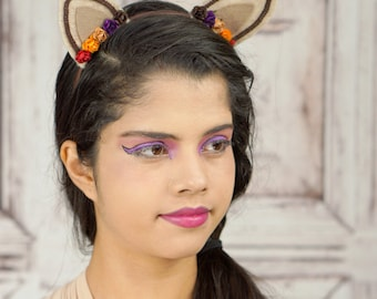 Lolita Cat Ears, Cat Ears, Autumn, Fall Colors, Costume Cat Ears, Cat Costume, Mori Kei, Lolita, Sweet Lolita, Cat Headband