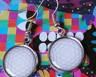 Golf Ball Earrings