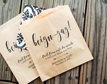 Pretzel Wedding Favor Bags We Tied the Knot Wedding Snack