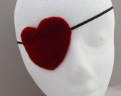 Heart Eye Patch - Red Velvet Eye Patch - Pirate Eye Patch - Cosplay - Halloween Accessory