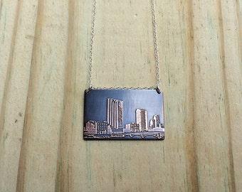 Grand Rapids Michigan   skyline necklace   Grand Rapids skyline   Michigan jewelry