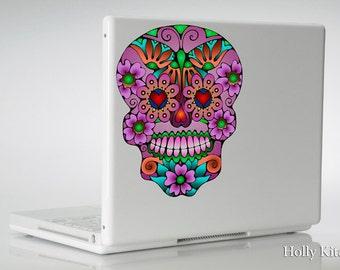 Sugar Skull - Vinyl Decal Sticker - Dia de los Muertos