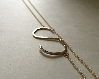 Gold  I N I T I A L necklace