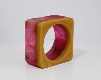 asphalt bracelet.resin jewelry