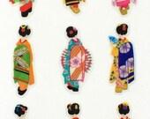 Japanese Stickers - Women In Kimonos Stickers - Traditional Japanese - Geisha Stickers  (S296)