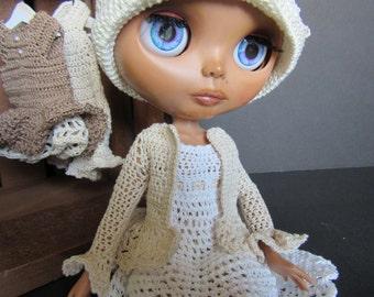 Blythe Heirloom Crochet Jacket in Cream Made to Order
