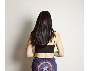 Captain America Underwear, Handmade COMIC Panties, Diy High Waisted Panties, Captain America Lingerie, Large Comic Panties