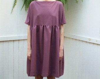 NEW Oversized Cecile Dress. Fall Fashion. Loose Fit Oversized Dress. Loose Fit Dress. Short Sleeves Oversized Dress