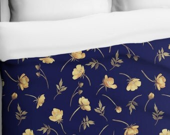 Buttercup, Floral Duvet Cover - Printed in USA