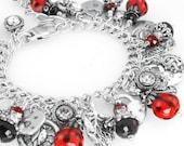 Lucky Jewelry, Bug Jewelry, Silver Ladybug, Black Onyx Jewelry, Lamp Glass Ladybugs