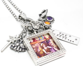 Cinderella, Crystal Locket, Fairy Tale Locket Necklace, Cinderella Jewelry, Fairy Tale Jewelry, Princess Jewelry