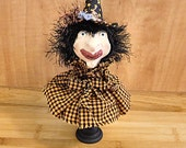 Halloween Witch  Makedo Primitive  Decoration