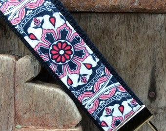 READY TO SHIP-Beautiful Key Fob/Keychain/Wristlet-Hope on Navy-1
