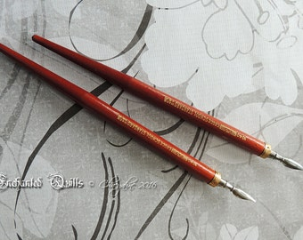 VINTAGE Handcrafted Solid Wood Calligraphy Dip Pen - Eagle 1040