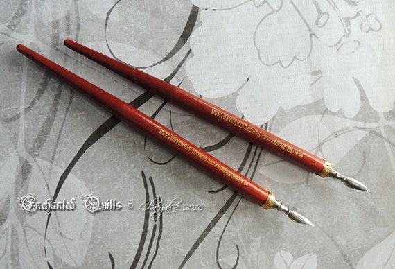 Vintage Handcrafted Solid Wood Calligraphy Dip Pen Eagle