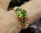 Genuine Peridot Hand Crafted Wire Wrapped Ring Signature Design Fine Jewelry August Birthstone