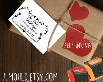 0506 SELF INKING Banner Hand Drawn JLMould Calligraphy Handwriting Personalized Rubber Stamp Return - Fast Stamp Shipping