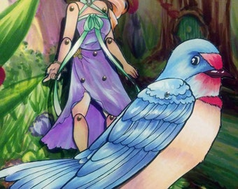 Thumbelina Paper Doll Set