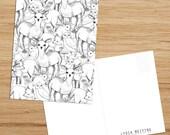 Postcard • Woodland Pattern