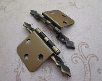 antique vintage brass door hinges.cabinet hardware. decorative ...