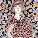 Paper cutout patterned lady A4 print