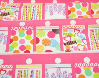 Confectionery Pink - from Lolly by Maude Asbury for Blend Fabrics - fabric by the quarter yard