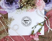 HAPPY MAIL self-inking stamp